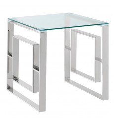 Eros-Accent Table-Silver (501-482CH) - Worldwide HomeFurnishings