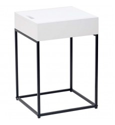 Eryk-Accent Table-White (501-090WT)