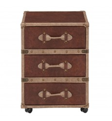 Worldwide - Esquire 3 Drawer Accent Table - Brown (501-384BN-3D)