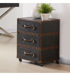 Worldwide - Esquire 3 Drawer Accent Table - Grey (501-384GY-3D)