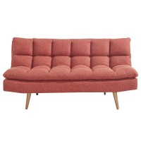Ethan-Convertible Sofa-Red (108-207RD)