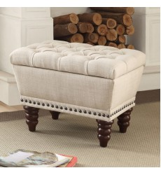 Hampton-Single Storage Bench-Beige (401-317S-BG)