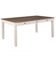Highlands-Dining Table-Antique White/Oak (201-279WT)