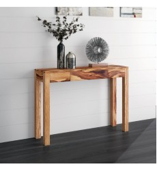 Idris-Console/Desk-Dark Sheesham (502-814DSH) - Worldwide HomeFurnishings