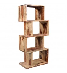 Worldwide - Idris Shelving Unit - Dark Sheesham (505-814DS)