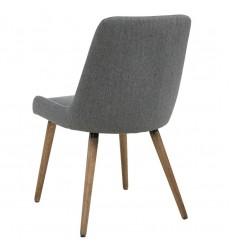 Mia-Side Chair-Dark Grey/Grey Leg (202-247GY/DG) Side Chair - Worldwide HomeFurnishings