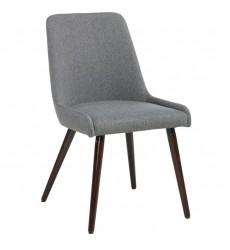 Mia-Side Chair-Dark Grey/Walnut Leg (202-247WL/DG) Side Chair - Worldwide HomeFurnishings
