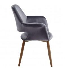 Miranda-Accent Chair-Grey (403-405GY) - Worldwide HomeFurnishings