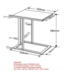 Mod-Accent Table-Chrome/Black (501-410) - Worldwide HomeFurnishings