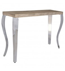Natalia-Console Table-Reclaimed/Chrome (502-134GYW) - Worldwide HomeFurnishings