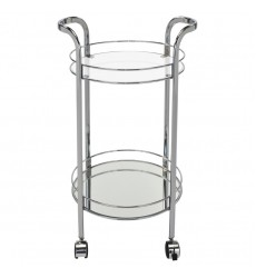 Neema-2-Tier Bar Cart-Chrome (556-754CH)