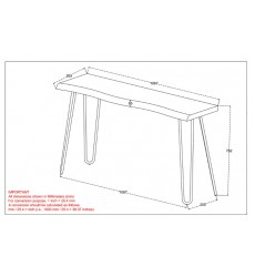 Nila-Console/Desk-Light Grey (502-329GY) - Worldwide HomeFurnishings