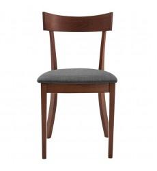 Onix-Side Chair-Walnut/Grey (202-612GY) Side Chair - Worldwide HomeFurnishings