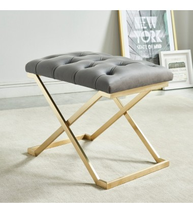 Rada-Single Bench-Grey/Gold (401-404GY)