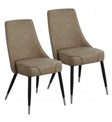 Silvano-Side Chair-Vintage Brown (202-429TP) Side Chair - Worldwide HomeFurnishings