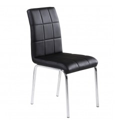 Solara Ii-Side Chair-Black (202-160BK) Side Chair - Worldwide HomeFurnishings