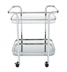 Zedd-2-Tier Bar Cart-Chrome (556-218CH)