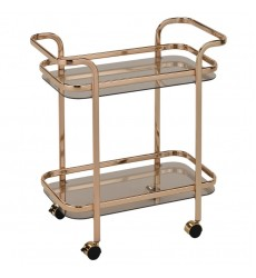 Zedd-2-Tier Bar Cart-Gold (556-218GL)