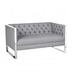Xcella - Austin GY-1614-2 Platinum Fabric Loveseat GY-1614-2