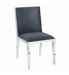 Xcella - Emario Charcoal Velvet Chair GY-DC-7778HB