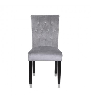 Xcella - Elson Charcoal Dining Chair Grey Velvet GY-DC-8119