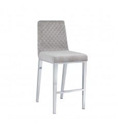 Xcella - Alisa Grey Velvet Counter Chair GY-COU8115-XX