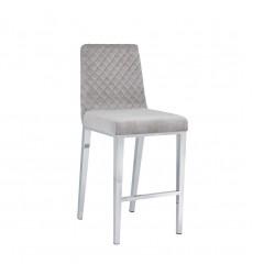 Xcella - Alisa Grey Velvet Counter Chair GY-COU8115-XX
