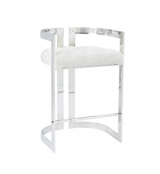 Xcella - Majestic Ivory Fabric Counter Chair GY-COU-8050