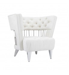 Xcella - Bentley Accent Chair: Ivory Fabric GY-AC-8105
