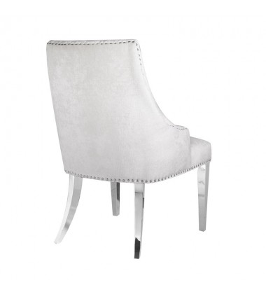 Xcella - Oscar Ivory Steel Chair with Steel Legs GY-9209SS